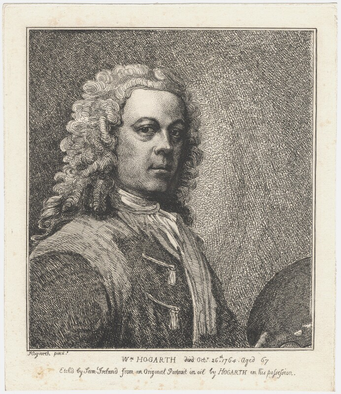 William Hogarth, by Samuel Ireland, after  William Hogarth, published 1786 - NPG D3260 - © National Portrait Gallery, London