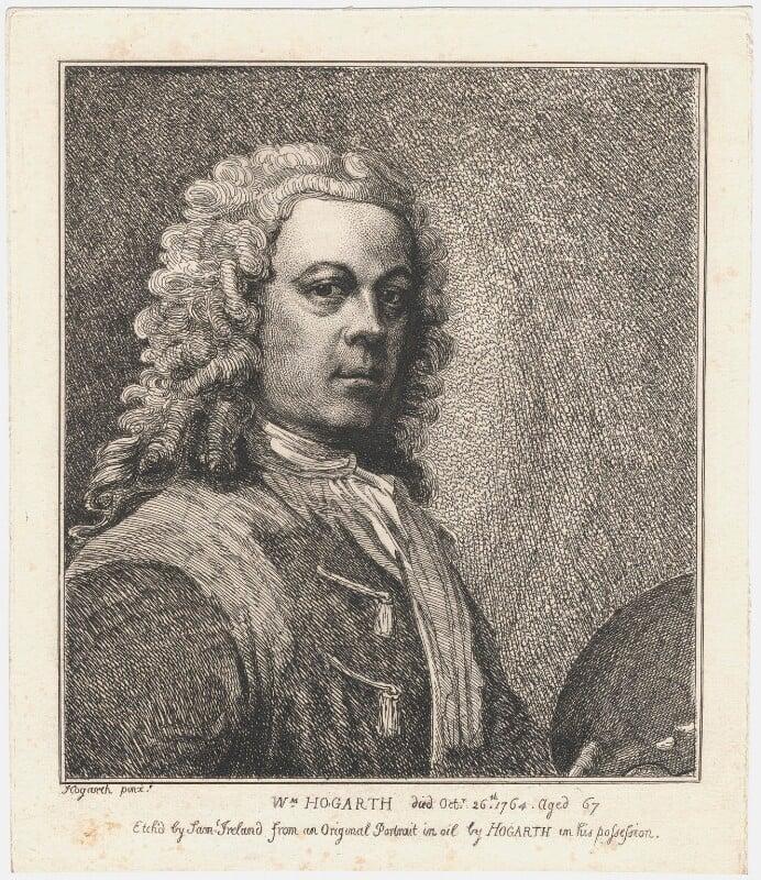 William Hogarth, by Samuel Ireland, after  William Hogarth, published 1786 - NPG D3260 - © National Portrait Gallery, London
