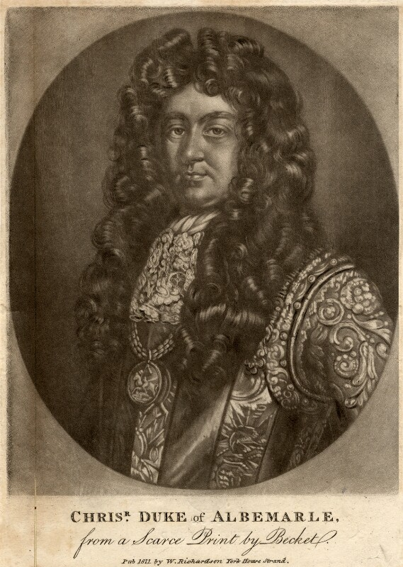 Christopher Monck, 2nd Duke of Albemarle, published by William Richardson, after  Thomas Murray, published 1811 - NPG D328 - © National Portrait Gallery, London