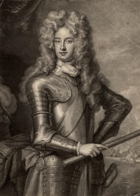 Arnold Joost van Keppel, 1st Earl of Albemarle, by John Smith, after  Sir Godfrey Kneller, Bt, 1700 - NPG D330 - © National Portrait Gallery, London