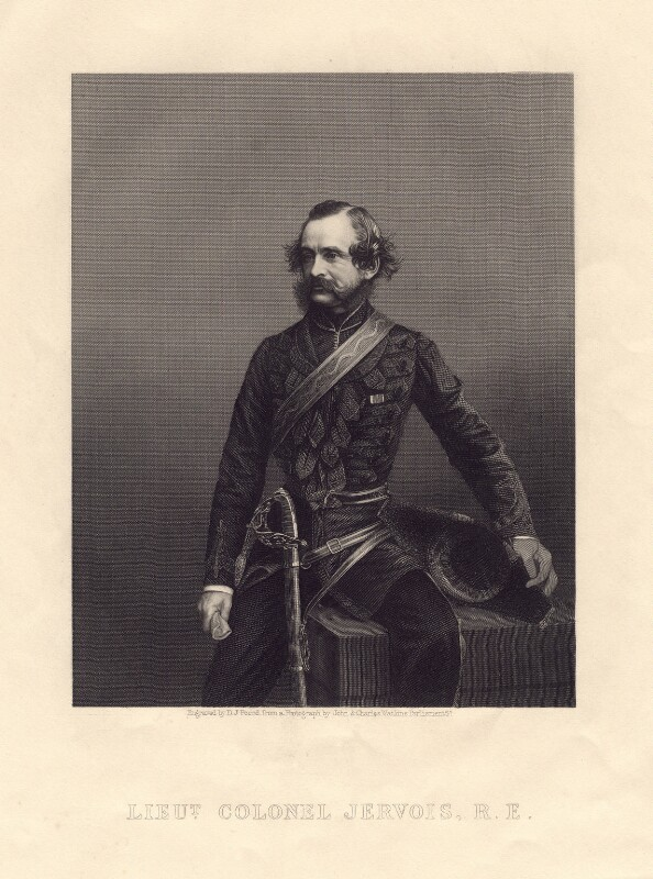 Sir William Francis Drummond Jervois, by Daniel John Pound, after a photograph by  John & Charles Watkins, published circa 1859-1862 - NPG D3307 - © National Portrait Gallery, London