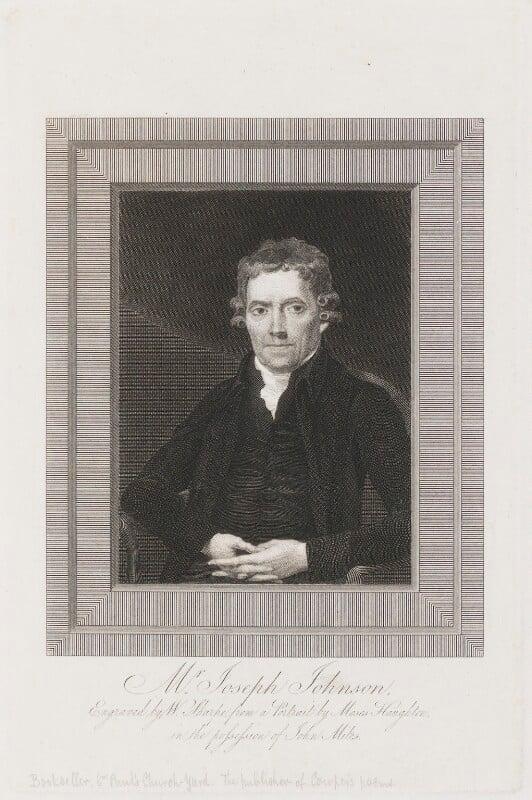 Joseph Johnson, by William Sharp, after  Moses Haughton the Elder, circa 1780-1820 - NPG D3316 - © National Portrait Gallery, London