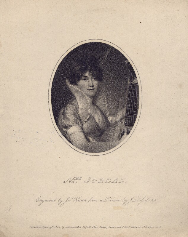 Dorothy Jordan, by James Heath, after  John Russell, published 1802 - NPG D3323 - © National Portrait Gallery, London