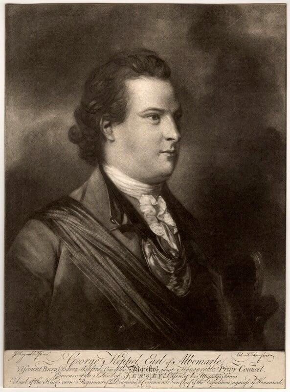 George Keppel, 3rd Earl of Albemarle, by Edward Fisher, after  Sir Joshua Reynolds, published 1762? - NPG D335 - © National Portrait Gallery, London