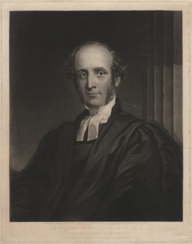 John Edward Kempe, by William Walker, after  William Cooper, published 1856 - NPG D3366 - © National Portrait Gallery, London