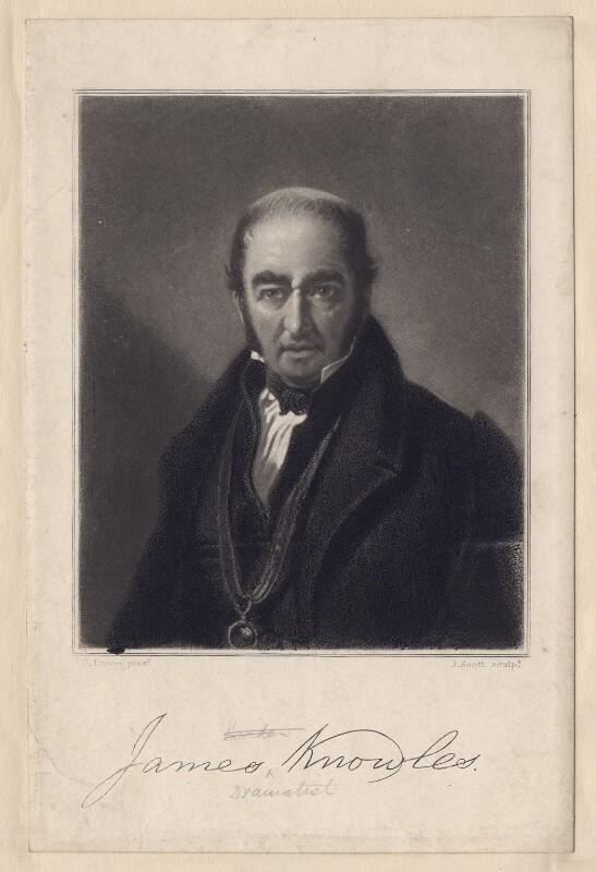 James Knowles, by James Scott, after  George Lance, 1850s-1880s - NPG D3379 - © National Portrait Gallery, London