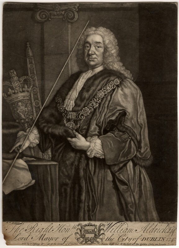 William Aldrich, by John Brooks, published by  Thomas Jefferys, published by  William Herbert, after  Anthony Lee, mid 18th century - NPG D339 - © National Portrait Gallery, London