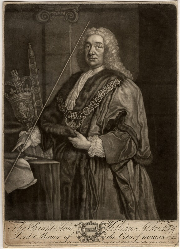 William Aldrich, by John Brooks, published by  Thomas Jefferys, published by  William Herbert, after  Anthony Lee, mid 18th century - NPG D340 - © National Portrait Gallery, London