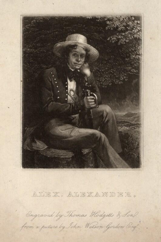 Alexander Alexander, by Thomas Hodgetts, after  Sir John Watson-Gordon, published 1830 - NPG D341 - © National Portrait Gallery, London