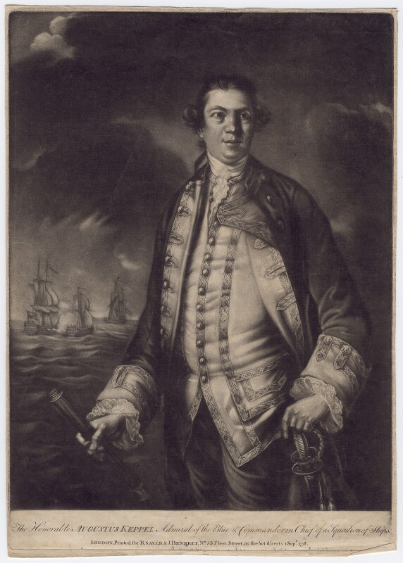 Augustus Keppel, Viscount Keppel, published by Robert Sayer, published by  John Bennett, published 1 September 1778 - NPG D3411 - © National Portrait Gallery, London