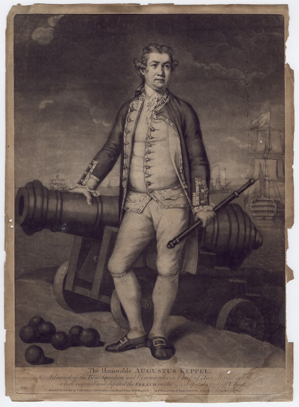 Augustus Keppel, Viscount Keppel, published by Carington Bowles, 1778 or after - NPG D3412 - © National Portrait Gallery, London