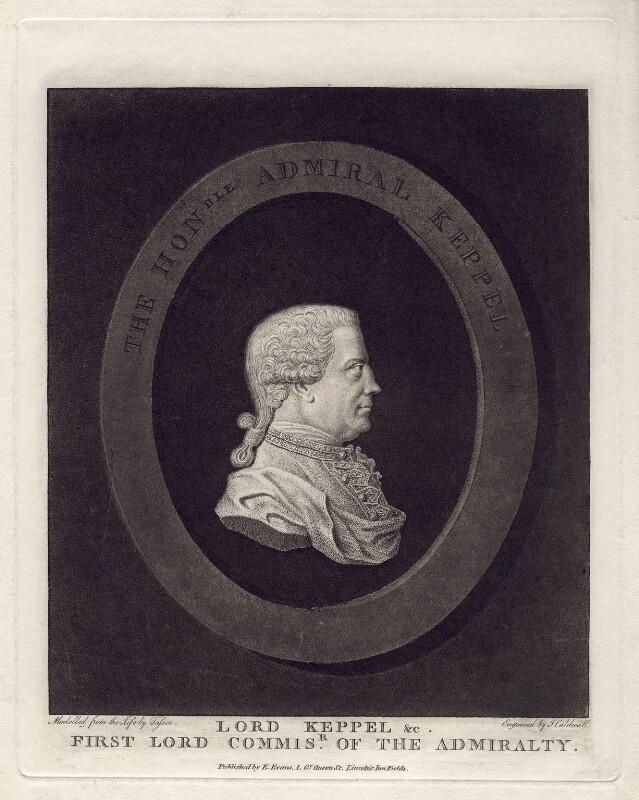Augustus Keppel, Viscount Keppel, by James Caldwall, after  James Tassie, published 13 April 1782 - NPG D3413 - © National Portrait Gallery, London