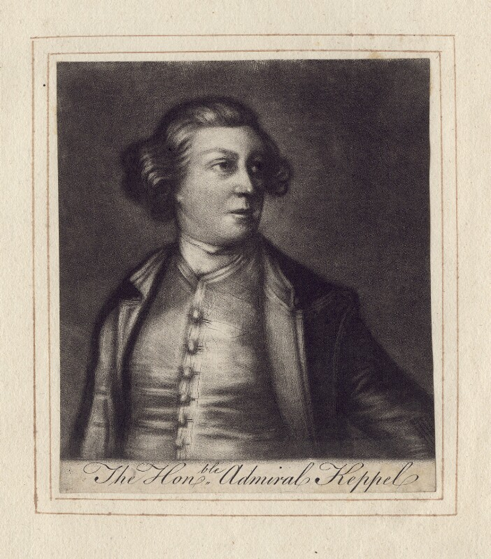 Augustus Keppel, Viscount Keppel, after Sir Joshua Reynolds, (1752-1753) - NPG D3414 - © National Portrait Gallery, London