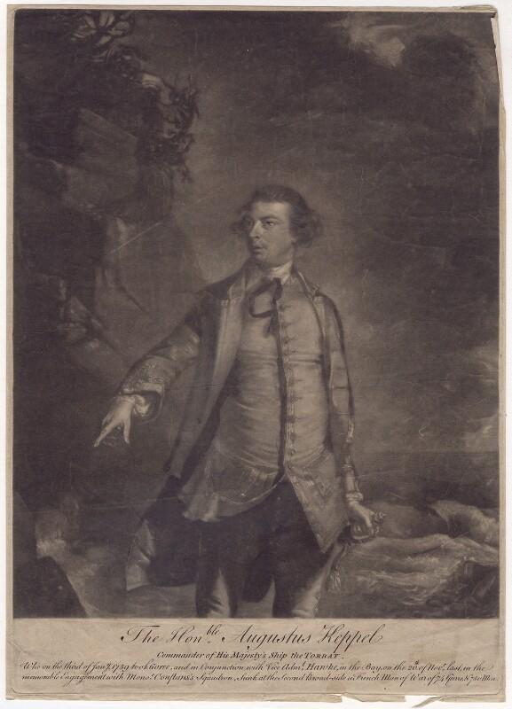 Augustus Keppel, Viscount Keppel, after Sir Joshua Reynolds, 1760 (1752-1753) - NPG D3415 - © National Portrait Gallery, London