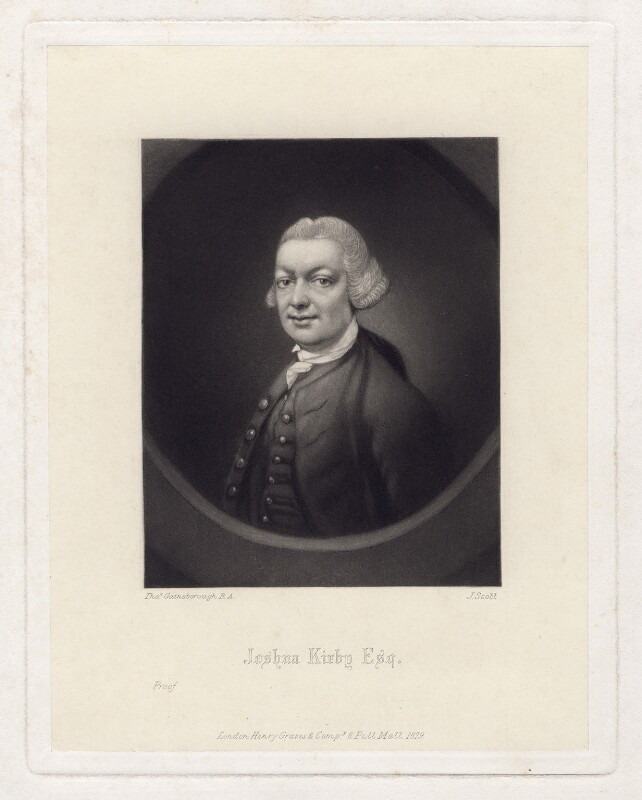 John (John) Joshua Kirby, by James Scott, published by  Henry Graves & Co, after  Thomas Gainsborough, published 1879 (circa 1764) - NPG D3435 - © National Portrait Gallery, London