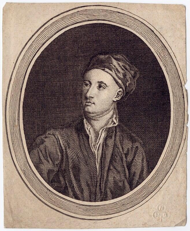 William Kent, by Alexander Bannerman, after  William Aikman, published 1762 - NPG D3484 - © National Portrait Gallery, London