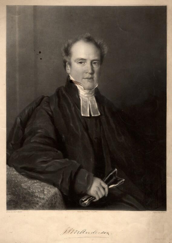 James Stuart Murray Anderson, by Henry Edward Dawe, after  Basebe & Son, published 1 June 1840 - NPG D349 - © National Portrait Gallery, London