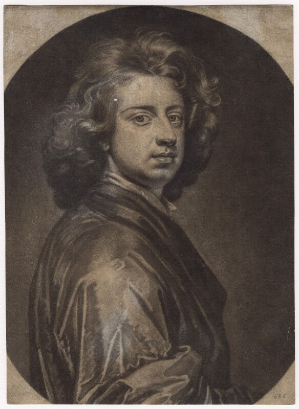 Sir Godfrey Kneller, Bt, by Isaac Beckett, after  Sir Godfrey Kneller, Bt, 1685-1688 (1685) - NPG D3498 - © National Portrait Gallery, London