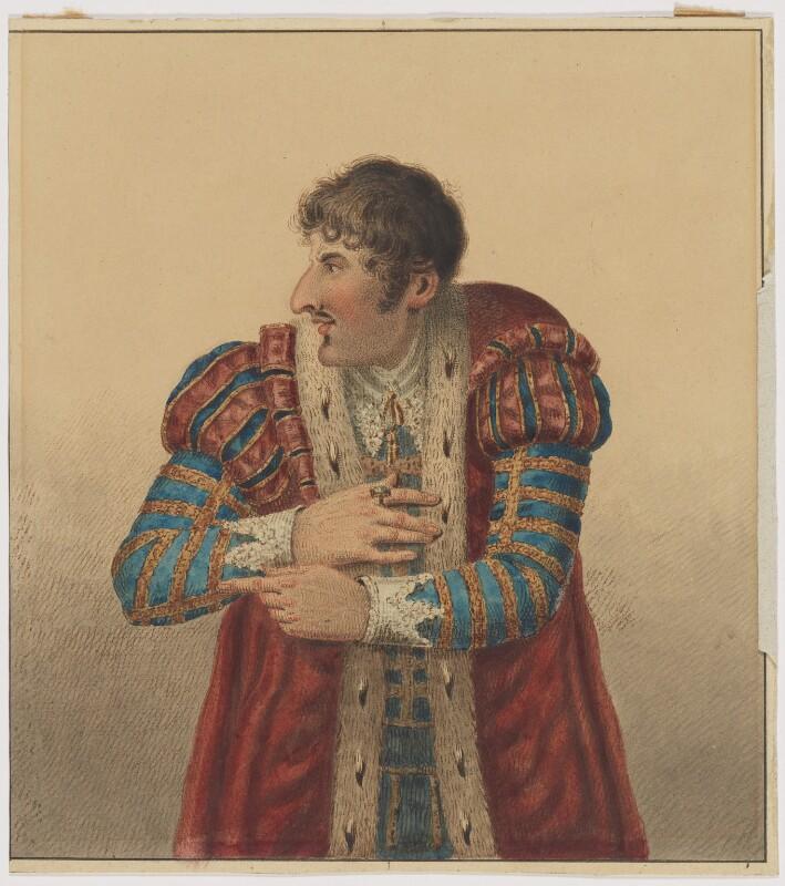 John Philip Kemble as Richard III, possibly by Samuel De Wilde, 1817 - NPG D3515 - © National Portrait Gallery, London