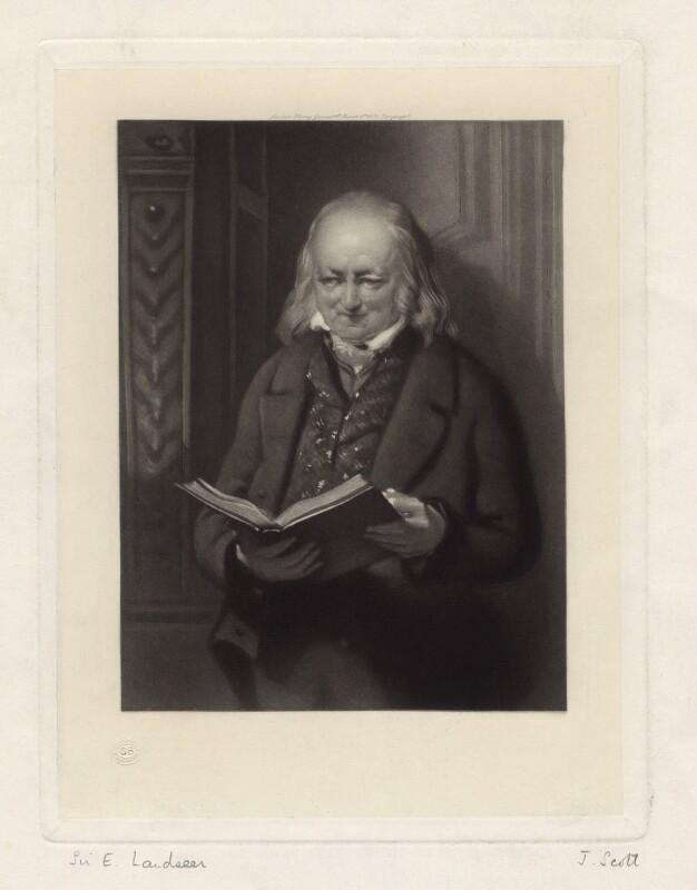 John George Landseer, by James Scott, after  John George Landseer, published 1884 - NPG D3532 - © National Portrait Gallery, London