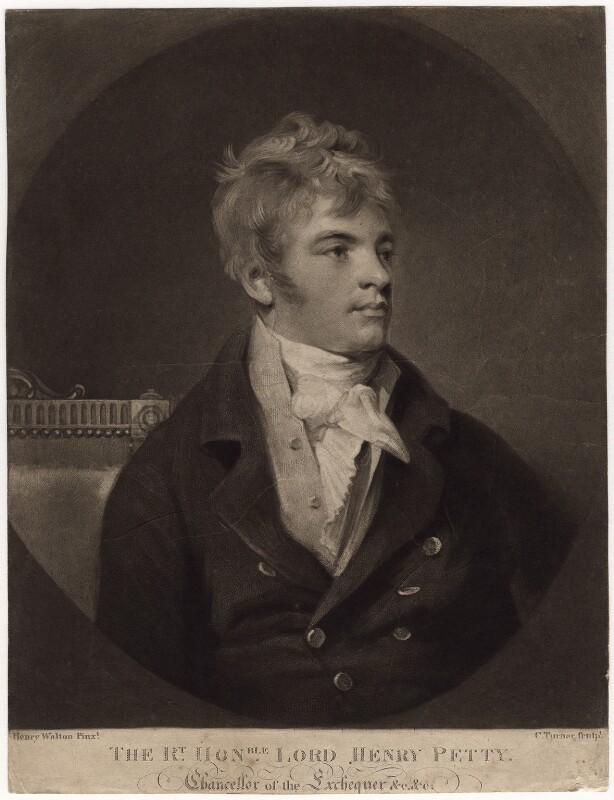 Henry Petty-Fitzmaurice, 3rd Marquess of Lansdowne, by Charles Turner, after  Henry Walton, published 1806 - NPG D3537 - © National Portrait Gallery, London