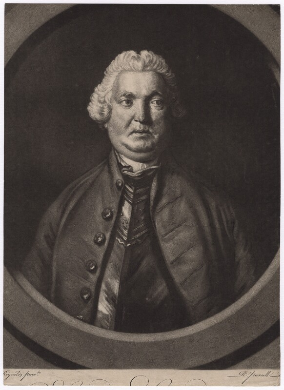 Stringer Lawrence, by Richard Purcell (H. Fowler, Charles or Philip Corbutt), after  Sir Joshua Reynolds, (1760-1761) - NPG D3545 - © National Portrait Gallery, London