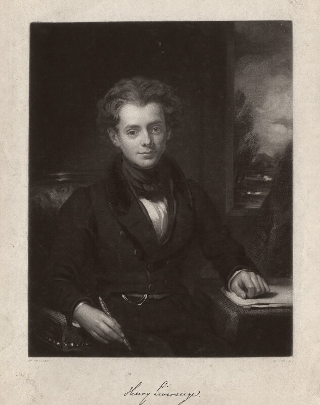 Henry Liverseege, by Henry Cousins, after  William Bradley, published 1835 - NPG D3583 - © National Portrait Gallery, London