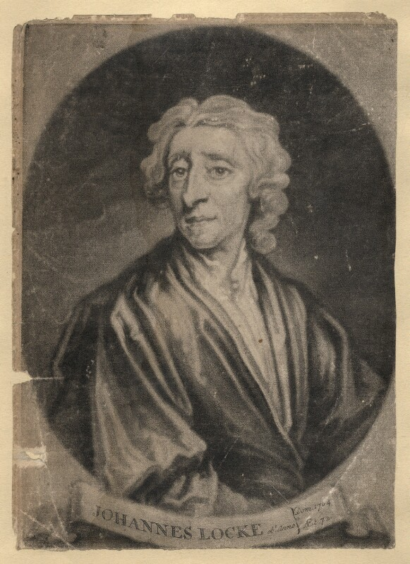John Locke, by John Simon, after  Sir Godfrey Kneller, Bt, (1704) - NPG D3605 - © National Portrait Gallery, London