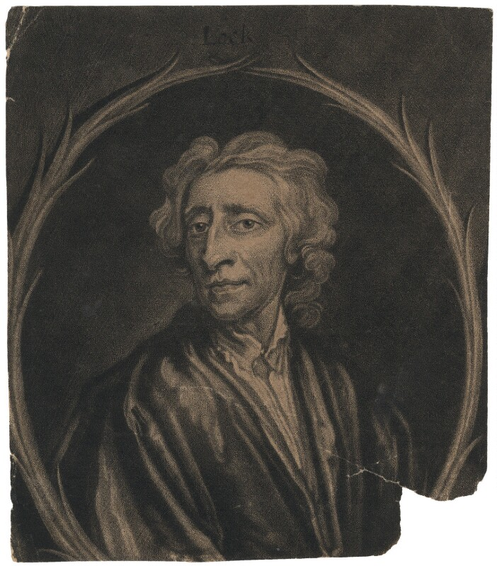 John Locke, by Francis Kyte, after  Sir Godfrey Kneller, Bt, early 18th century - NPG D3606 - © National Portrait Gallery, London