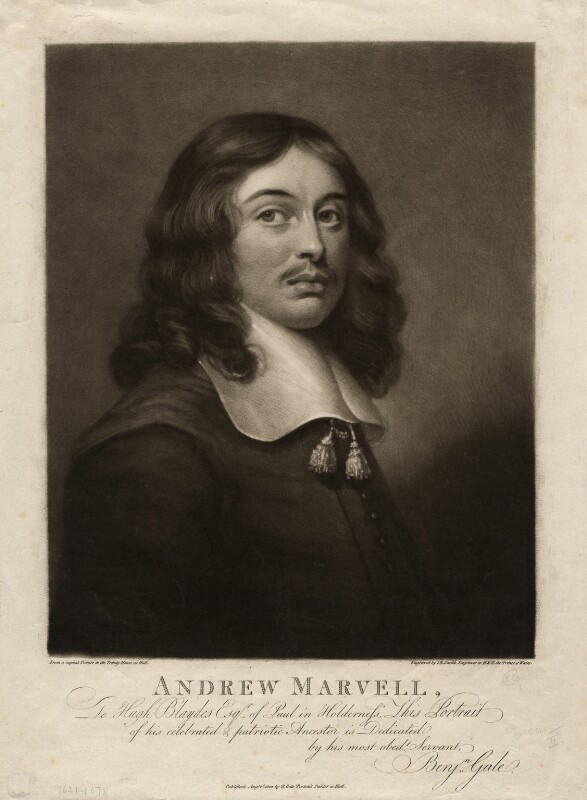Andrew Marvell, by John Raphael Smith, after  Unknown artist, published 1802 - NPG D3680 - © National Portrait Gallery, London