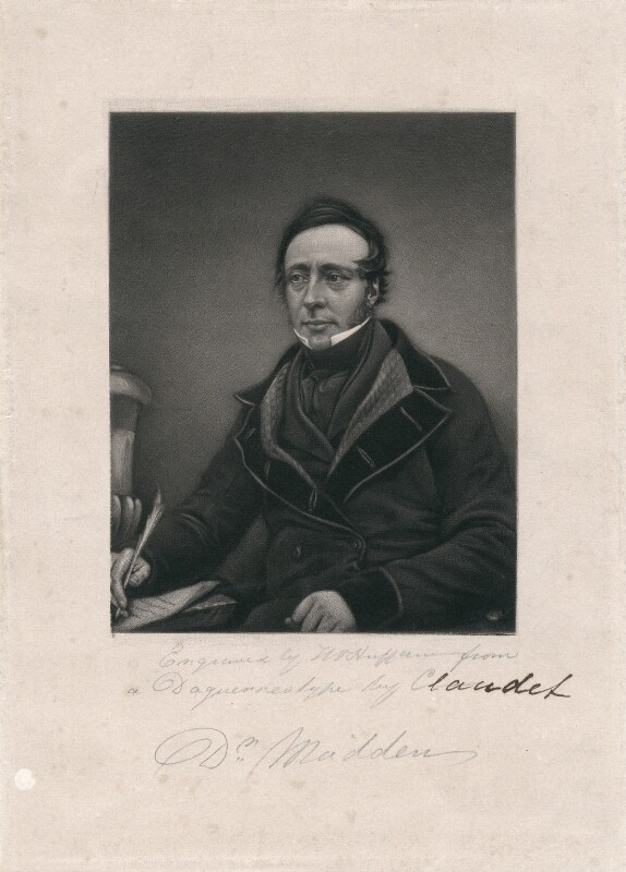 Dr Madden, by T.W. Huffam, after a daguerreotype by  Antoine Claudet, mid 19th century - NPG D3724 - © National Portrait Gallery, London