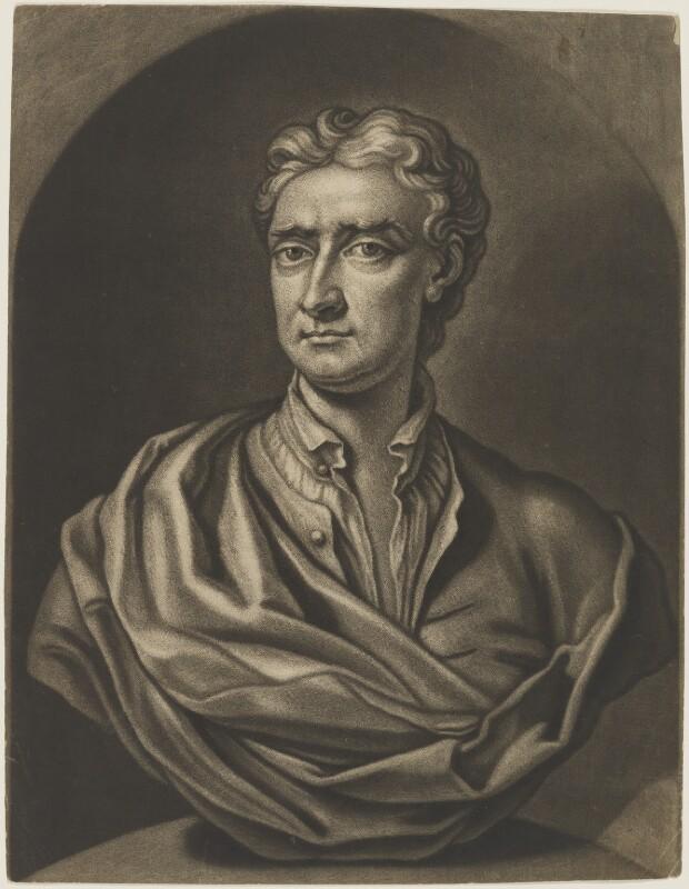 Sir Isaac Newton, by John Faber Jr, after  John Michael Rysbrack, (circa 1733) - NPG D3726 - © National Portrait Gallery, London