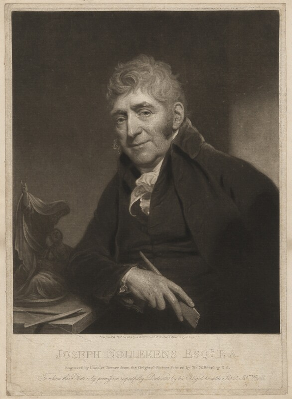 Joseph Nollekens, by Charles Turner, after  Sir William Beechey, published 1814 - NPG D3727 - © National Portrait Gallery, London