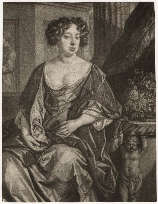 Essex Finch (née Rich), Countess of Nottingham, after Jan van der Vaart, published by  Richard Tompson, after  Sir Peter Lely, 1678-1679 - NPG D3746 - © National Portrait Gallery, London