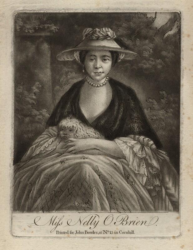 Nelly O'Brien, by Samuel William Reynolds, after  Sir Joshua Reynolds, (circa 1762-1764) - NPG D3751 - © National Portrait Gallery, London
