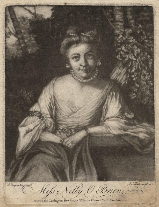 Nelly O'Brien, by James Watson, after  Sir Joshua Reynolds, (circa 1762-1764) - NPG D3755 - © National Portrait Gallery, London