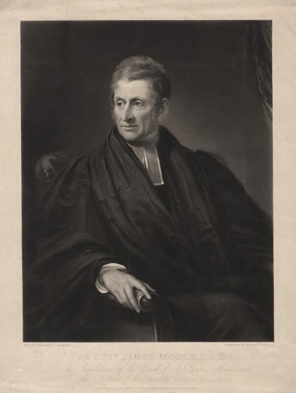 James Moore, by Henry Cousins, published by  Octavius Young Thiselton, after  James Lonsdale, published April 1836 - NPG D3767 - © National Portrait Gallery, London