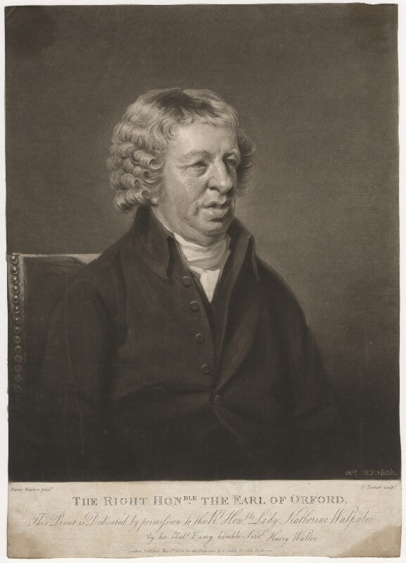Horatio Walpole, 1st Earl of Orford, by Charles Turner, published by  Robert Cribb, after  Henry Walton, published 1 May 1806 - NPG D3774 - © National Portrait Gallery, London