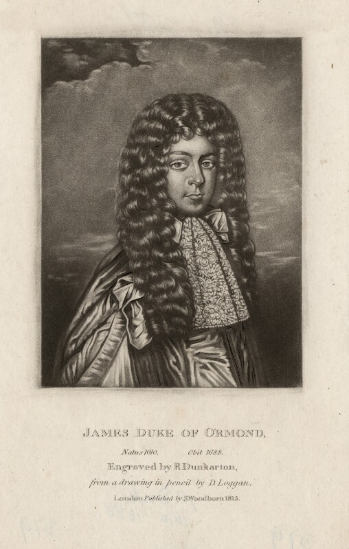 James Butler, 1st Duke of Ormonde, by Robert Dunkarton, after  David Loggan, published 1815 - NPG D3775 - © National Portrait Gallery, London