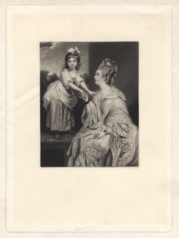 Sarah Mayne (née Otway); Sarah Otway (née Hayes), by James Scott, after  Sir Joshua Reynolds, published 1864 - NPG D3791 - © National Portrait Gallery, London