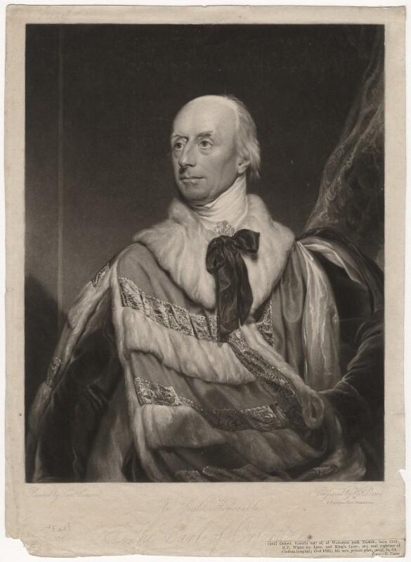 Horatio Walpole, 2nd Earl of Orford, by Henry Edward Dawe, after  Samuel Lane,  - NPG D3795 - © National Portrait Gallery, London