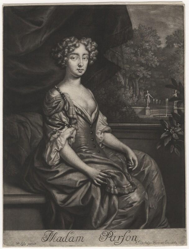 Madam Parson, by Jan Verkolje, after  Sir Peter Lely, 1683 - NPG D3806 - © National Portrait Gallery, London