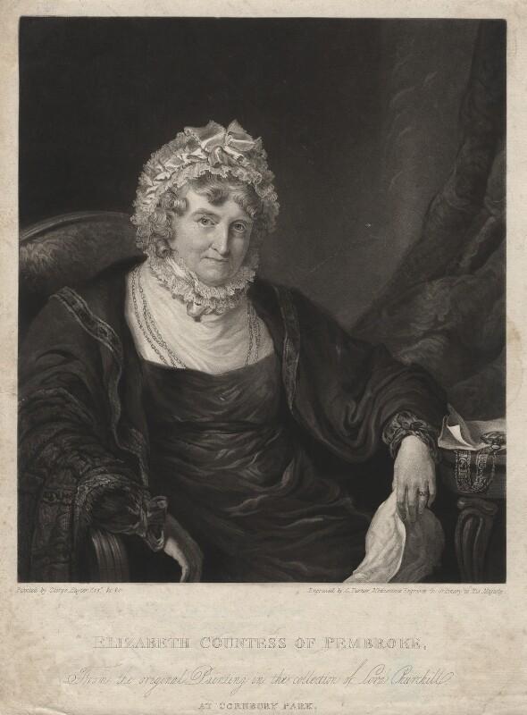Elizabeth Herbert (née Spencer), Countess of Pembroke, by Charles Turner, after  Sir George Hayter, published 1824 - NPG D3846 - © National Portrait Gallery, London