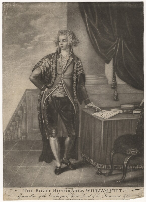William Pitt, published by Robert Sayer, after  Isaac Cruikshank, published 20 February 1790 (1789-1790) - NPG D3891 - © National Portrait Gallery, London