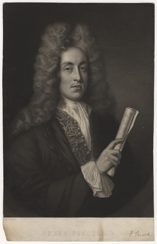 Henry Purcell, by George Zobel, after  John Closterman, circa 1850s-1870s - NPG D3979 - © National Portrait Gallery, London