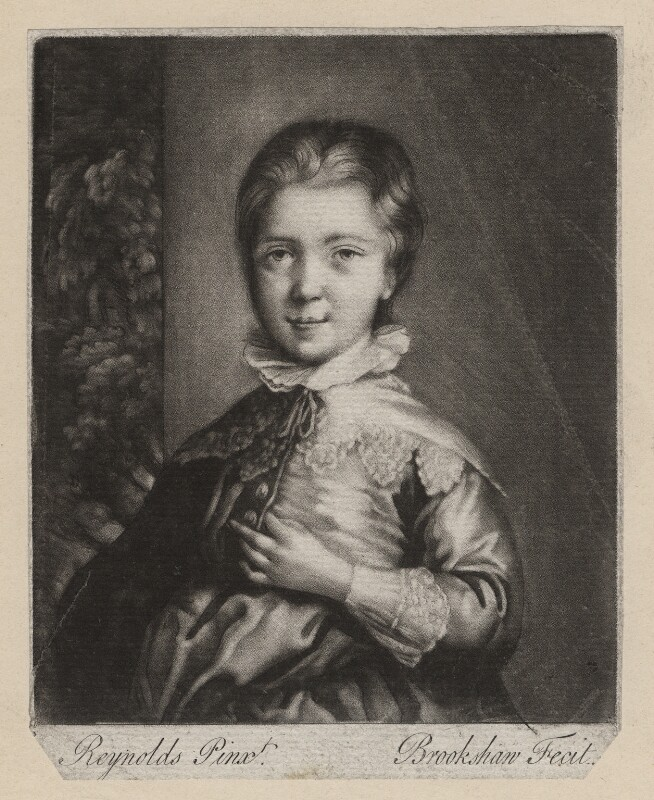 Jacob Pleydell-Bouverie, 2nd Earl of Radnor, by Richard Brookshaw, after  Sir Joshua Reynolds, (1757) - NPG D3982 - © National Portrait Gallery, London
