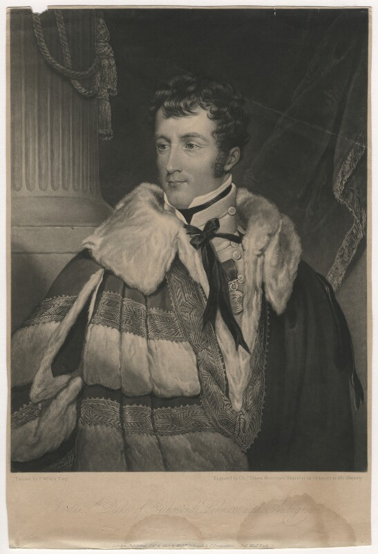 Charles Gordon-Lennox, 5th Duke of Richmond and Lennox, by Charles Turner, published by  Colnaghi & Co, after  Francis William Wilkin, published 12 October 1824 - NPG D4032 - © National Portrait Gallery, London