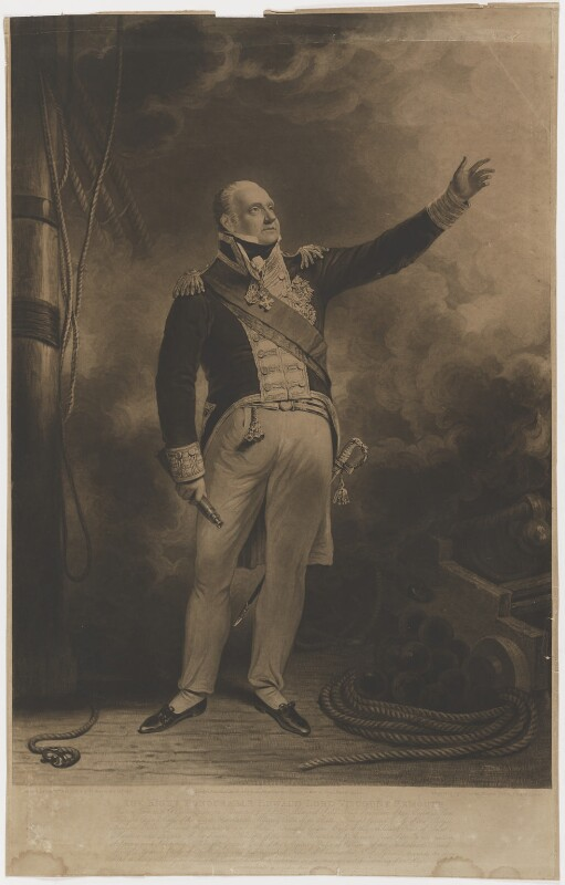 Edward Pellew, 1st Viscount Exmouth, by and published by Charles Turner, after  Sir William Beechey, published 1 April 1818 - NPG D4060 - © National Portrait Gallery, London