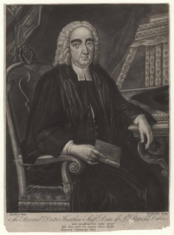 Jonathan Swift, by Alexander van Aken, after  Markham, published 25 February 1740 - NPG D4082 - © National Portrait Gallery, London