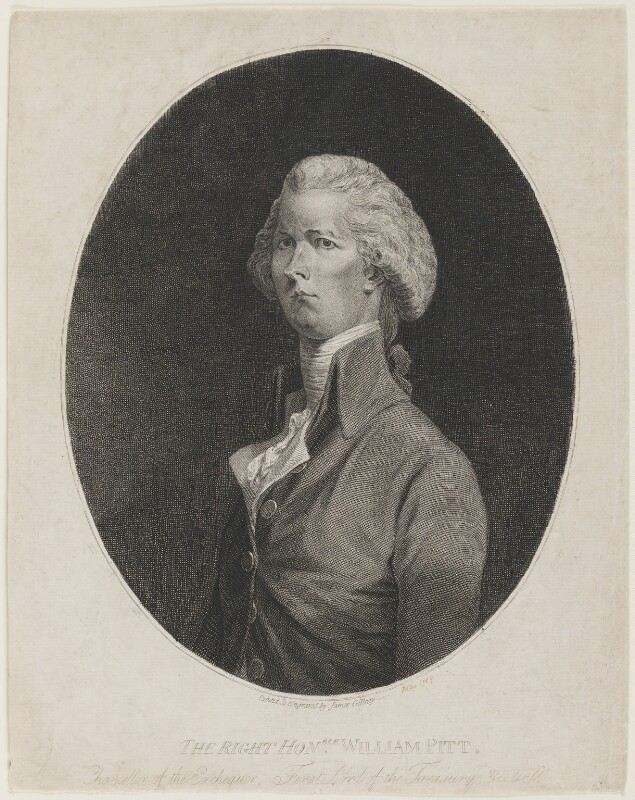 William Pitt, by James Gillray, 1789 - NPG D4086 - © National Portrait Gallery, London